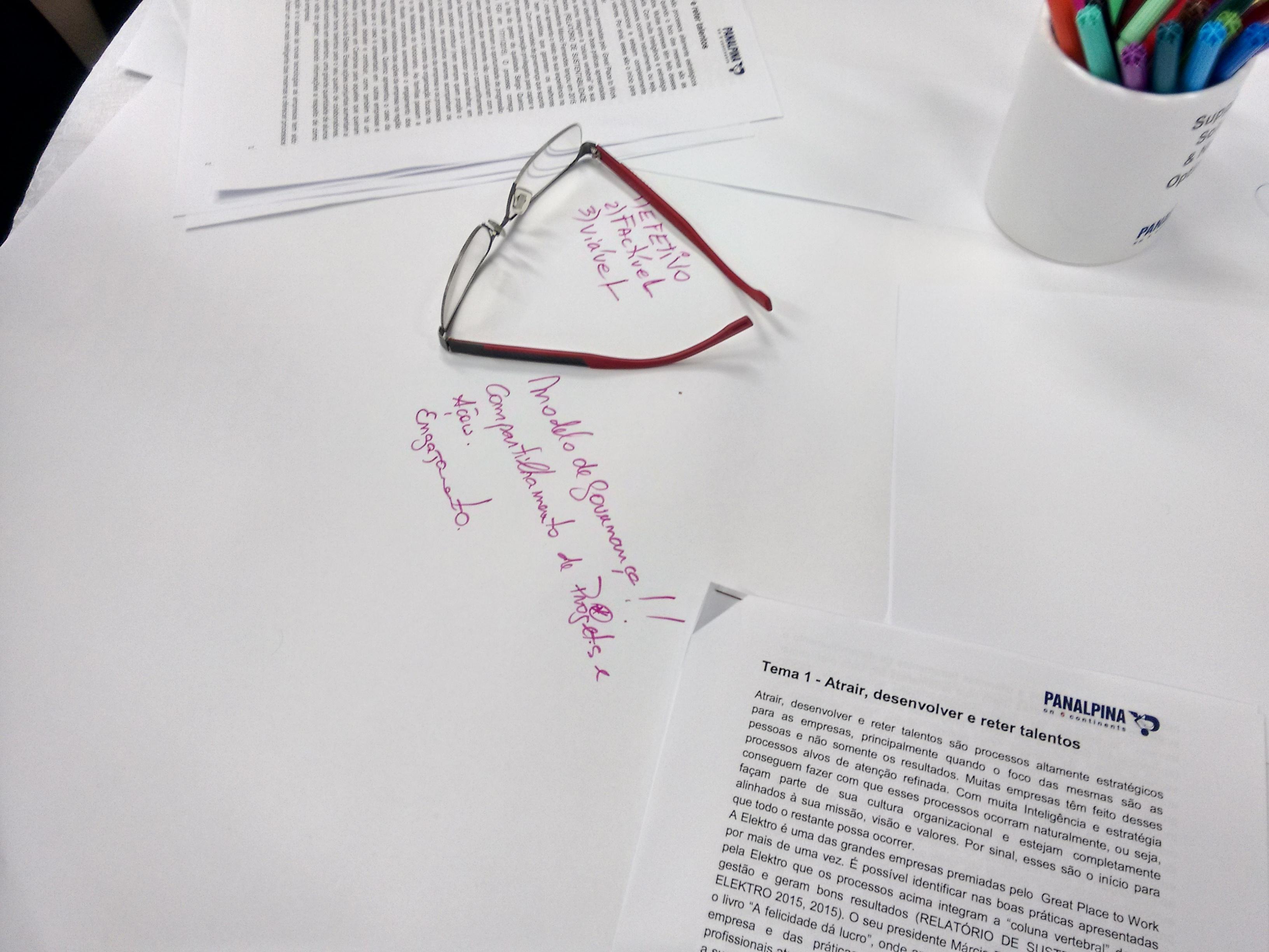 estudos sobre a mesa