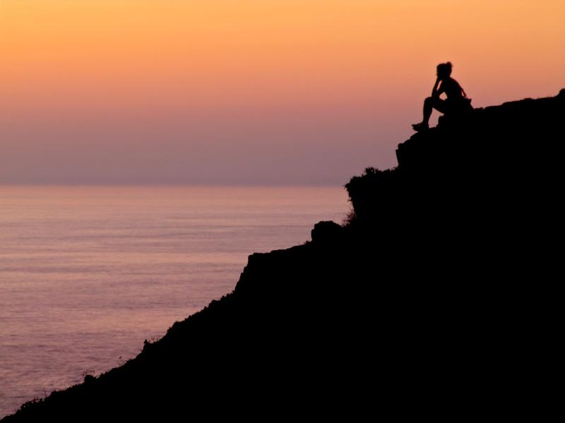 meditação na montanha