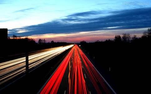 luzes na estrada
